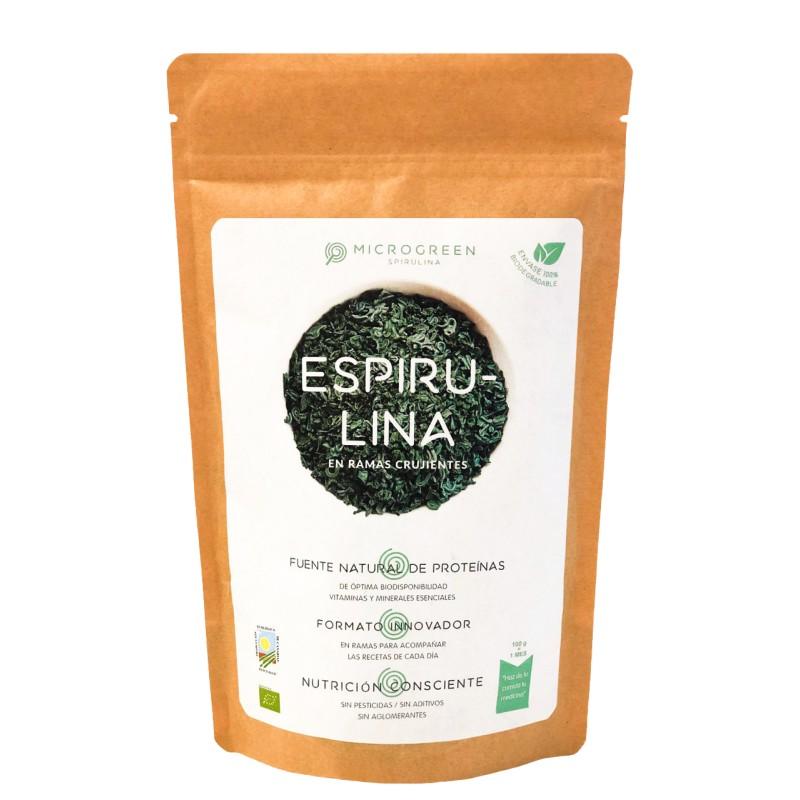 Spirulina en Rama Ecológica 100 gr Envase Biodegradable Microgreen Spirulina - 1