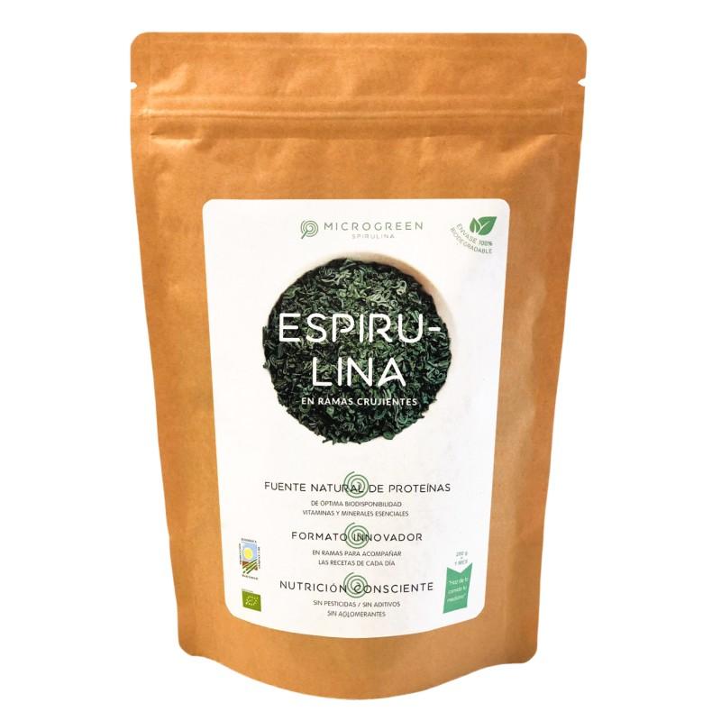 Spirulina en Rama Ecológica 200 gr Envase Biodegradable Microgreen Spirulina - 1