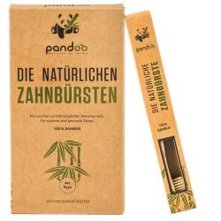 Pack 4 cepillos de dientes Bamboo Pandoo - 1